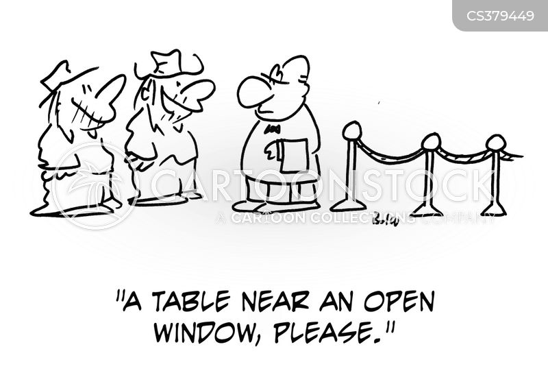 open window cartoon