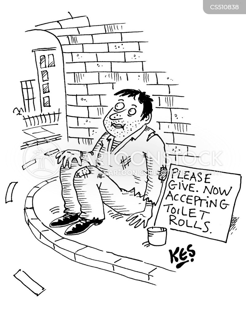 panic buyers cartoon