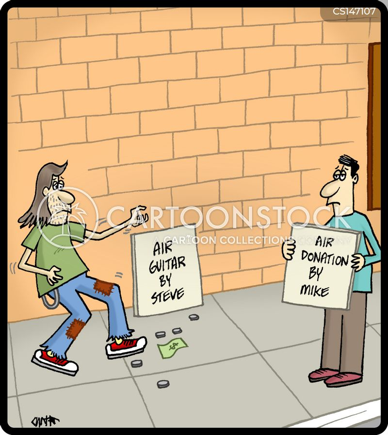 panhandling cartoon