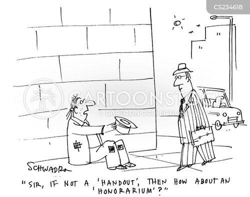 honorariums cartoon