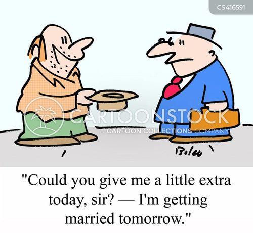 wedding costs cartoon