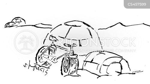 winter tires cartoon