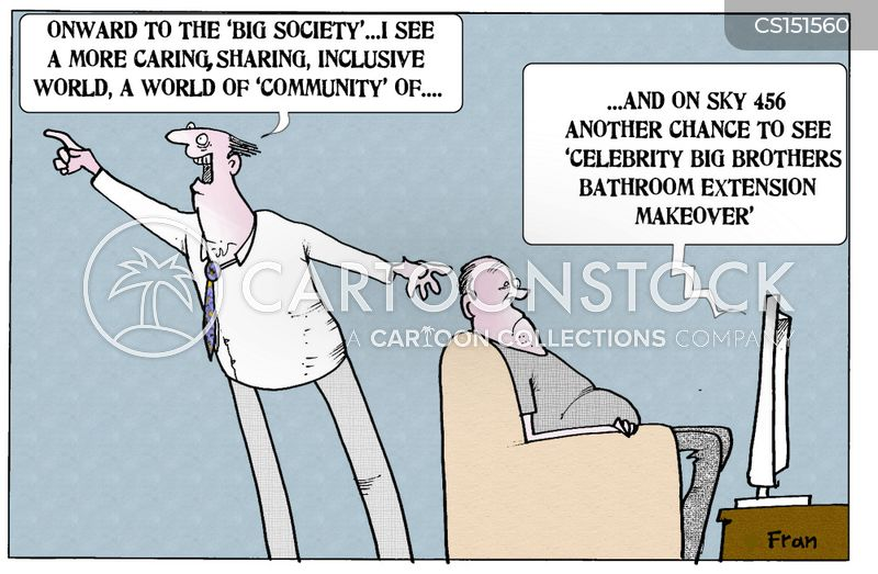 community spirit cartoon