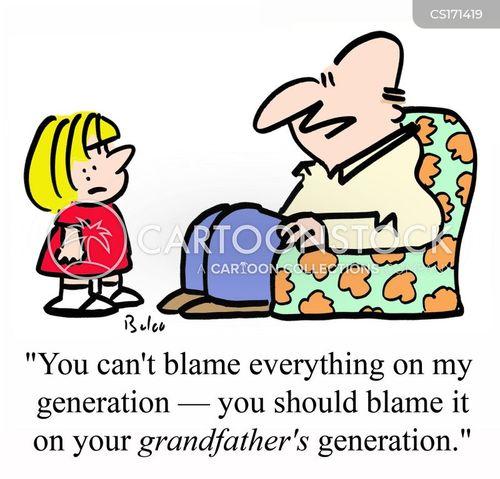 blamed cartoon
