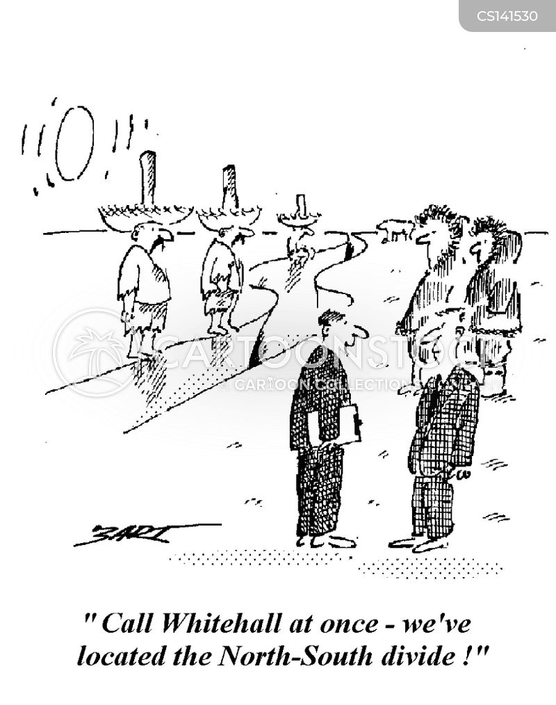 north-south divide cartoon
