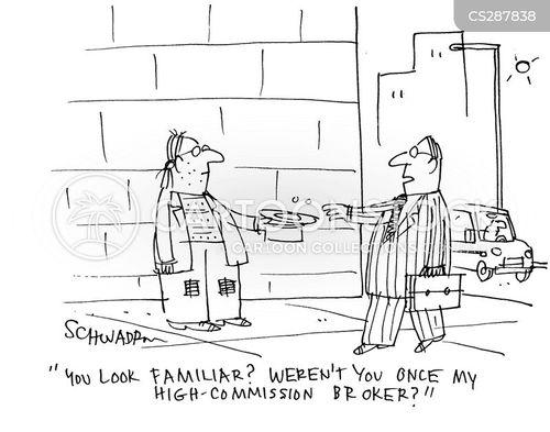 earning commission cartoon