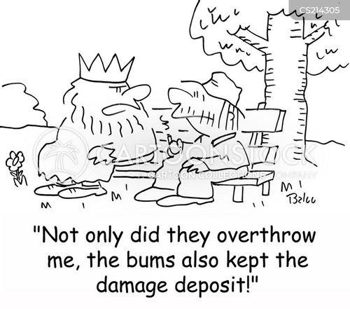 damage deposits cartoon