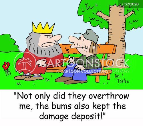 damage deposit cartoon