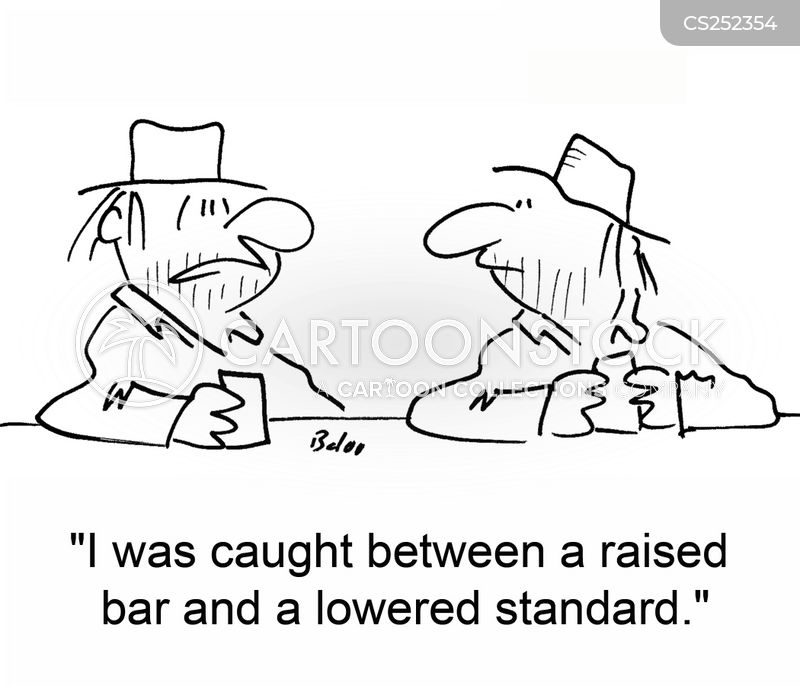 low standards cartoon