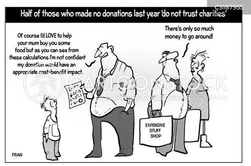 food bank cartoon