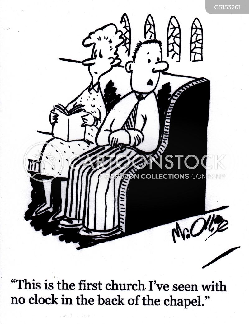 churchgoers cartoon