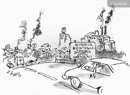 northeastern city cartoon