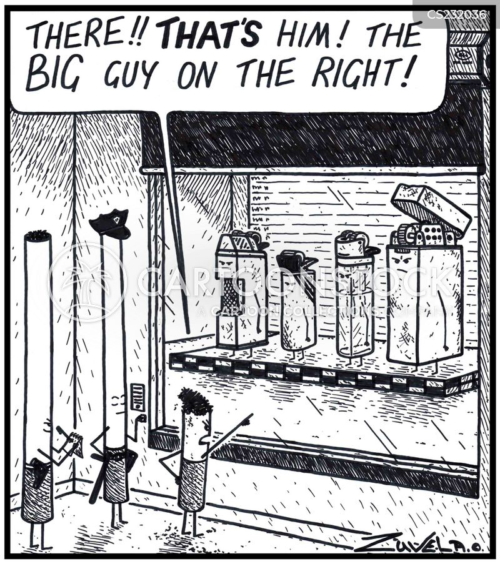 crime suspect cartoon