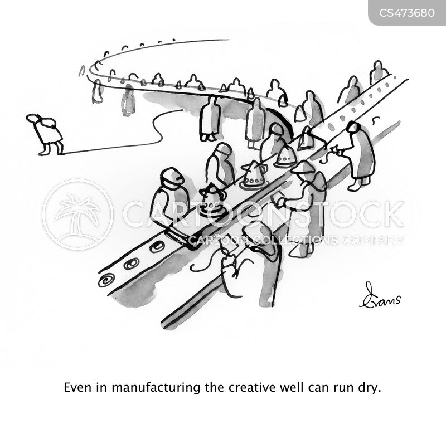 factory line cartoon