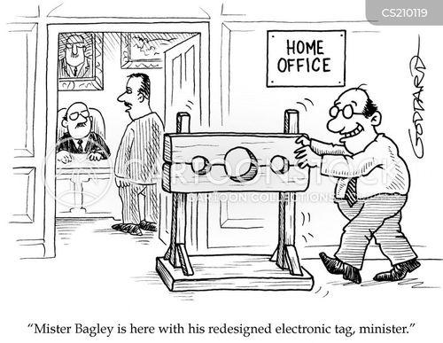 electronic tags cartoon