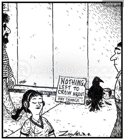 crowing cartoon