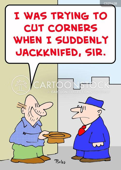 jackknived cartoon