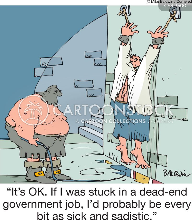 dead-end government job cartoon