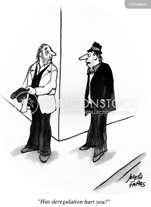 deregulation cartoon