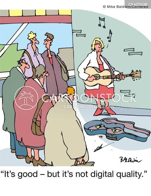 street musician cartoon