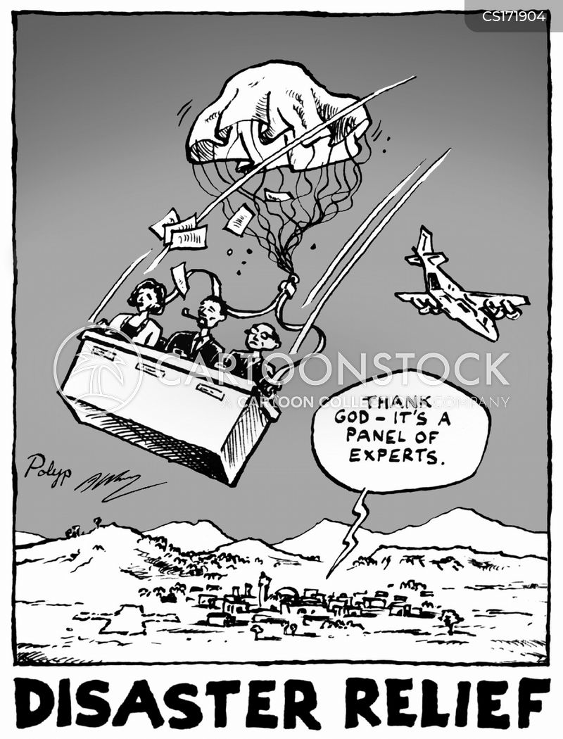 aid workers cartoon