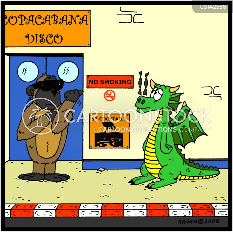 fire breathing dragons cartoon
