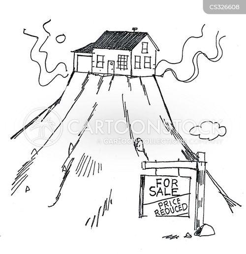 house sale cartoon