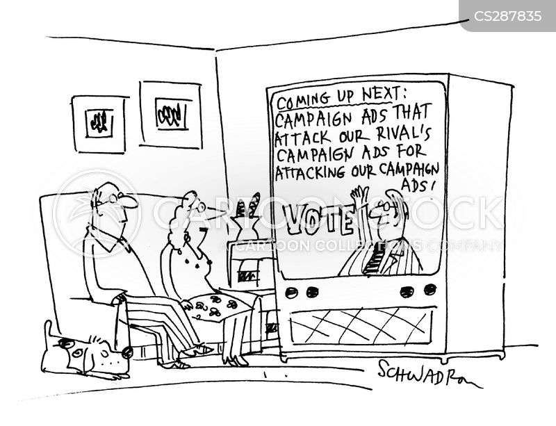 campaign advertising cartoon