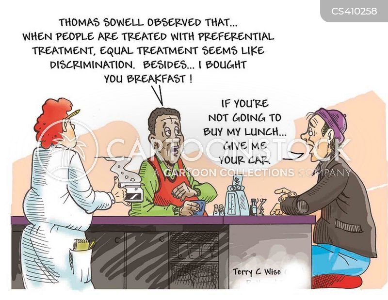 preferential treatment cartoon