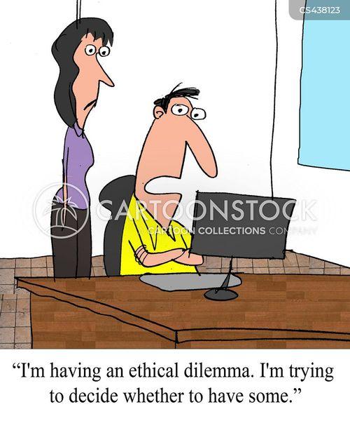 moral dilemma cartoon