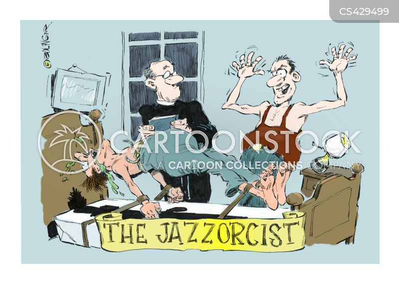 exorcizing cartoon