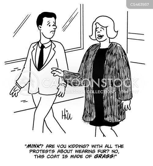 mink coat cartoon