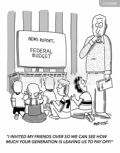 federal debt cartoon