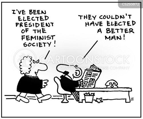 feminist society cartoon