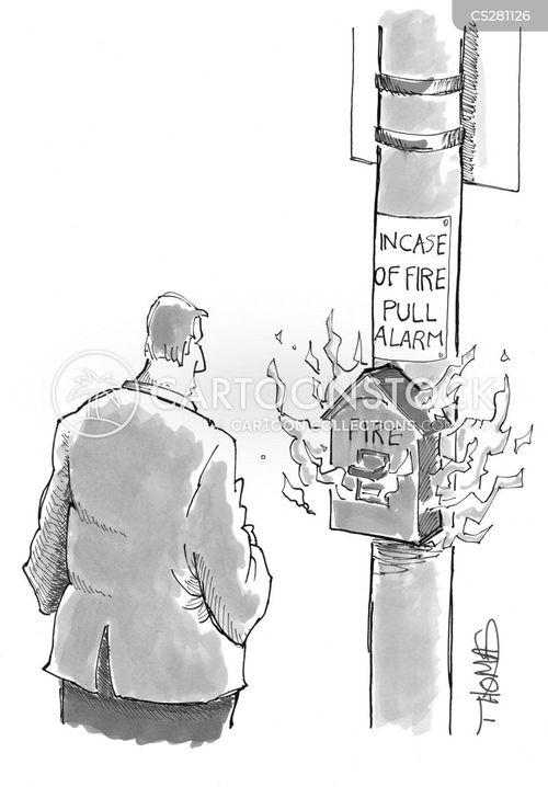 fire alarms cartoon