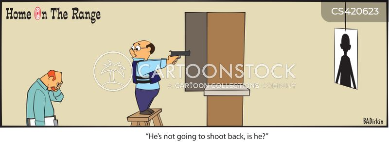gun ranges cartoon