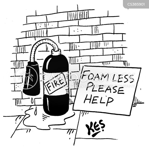 extinguisher cartoon