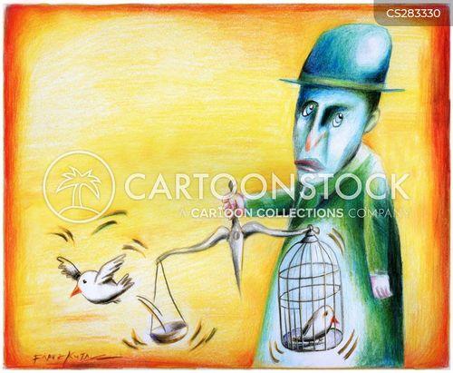 doves of peace cartoon