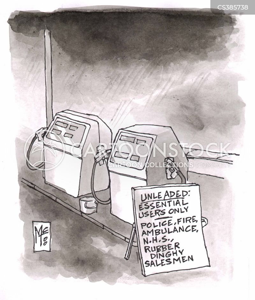 fuel crisis cartoon