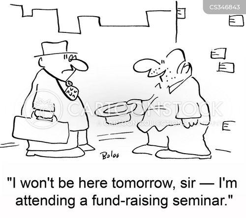 fund-raising cartoon