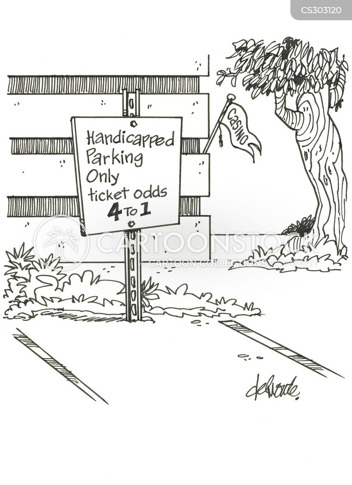 handicap parking cartoon