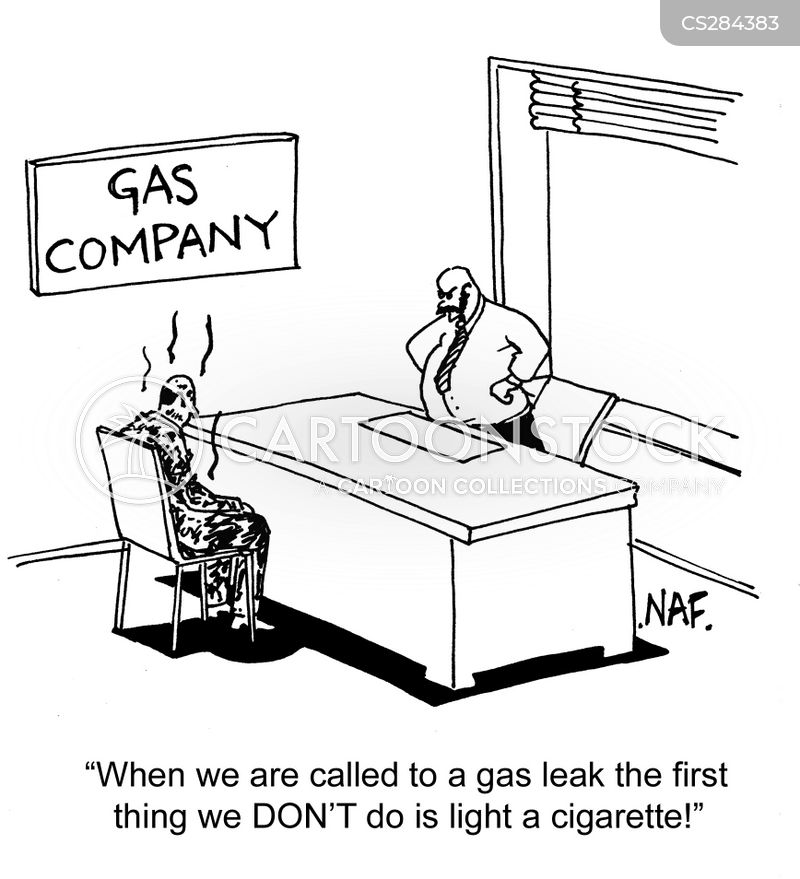 gas leaks cartoon