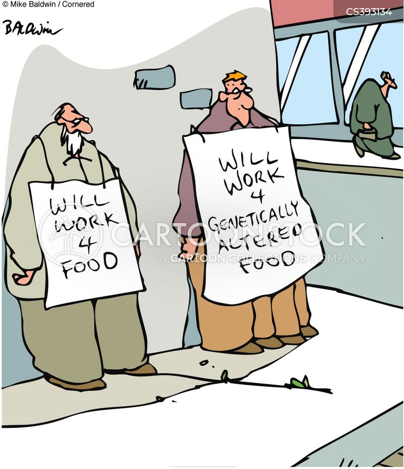 will work for food cartoon