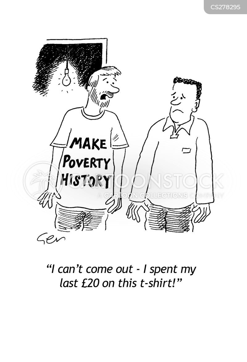 donating to charity cartoon