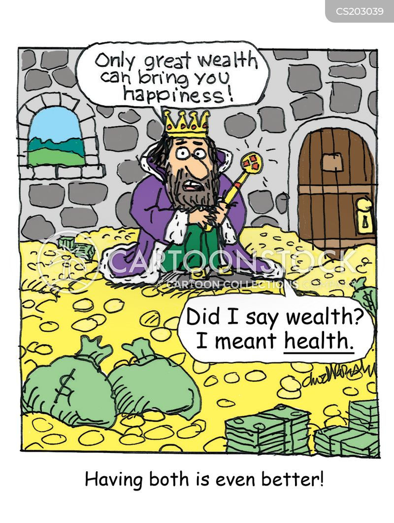 Image result for wealth and health cartoon