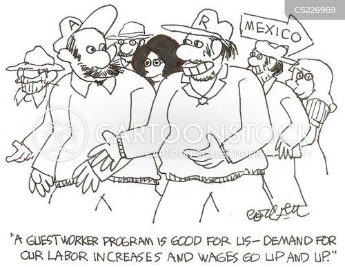 foreign worker cartoon