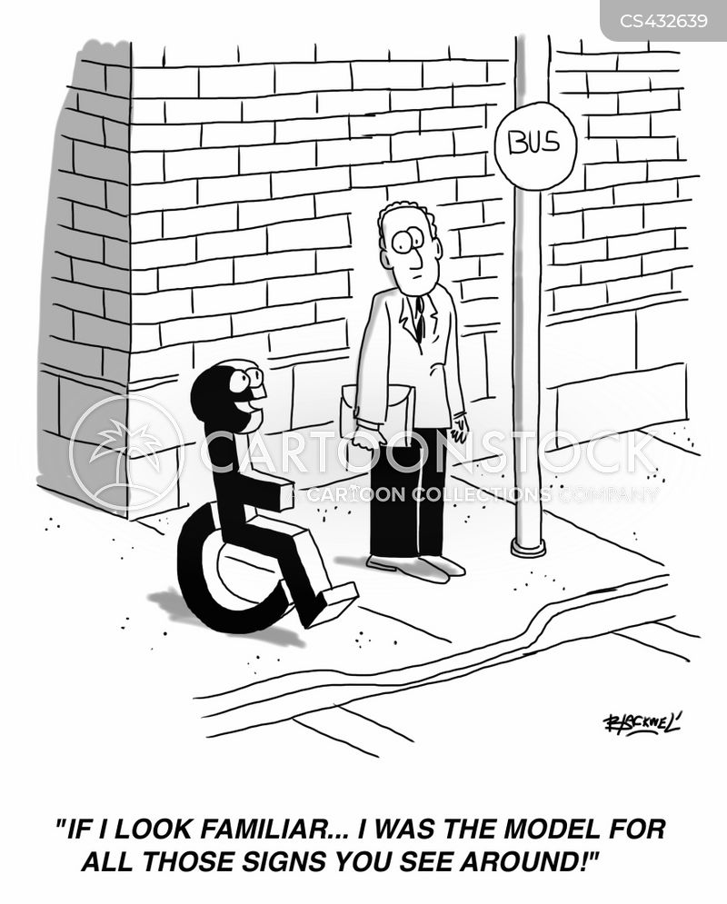 Disabled Signs Cartoons and Comics - funny pictures from