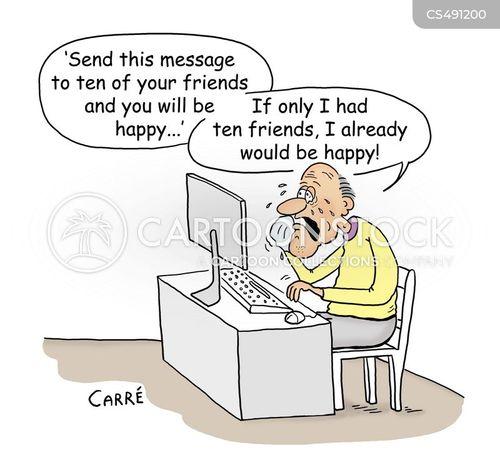 chain emails cartoon