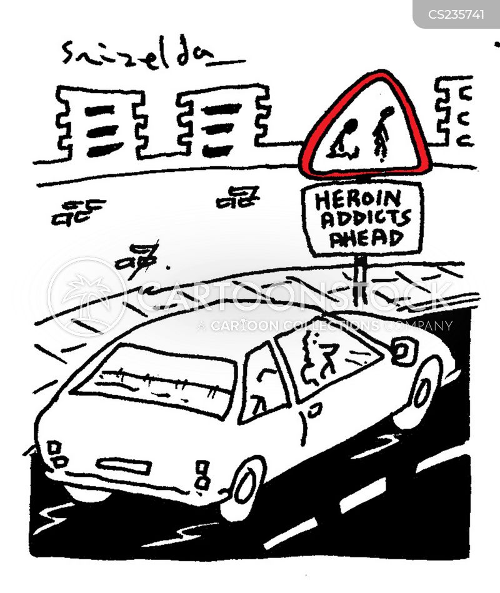 heroin addicts cartoon