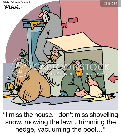 shovelling snow cartoon
